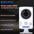 Escam keeper qf502 wifi mini ip cámara 1.0mp hd 720 p onvif p2p cámara de interior del hogar de vigilancia de visión nocturna de seguridad cctv cámara