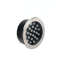 10X de alta calidad 24*1 W luz subterránea IP68 impermeable iluminación enterrada con Bridgelux chip express envío gratis