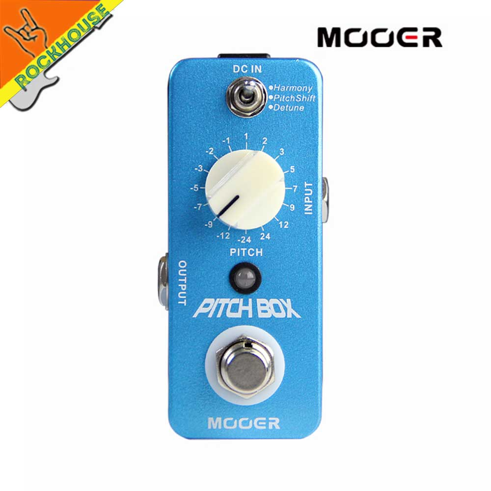 MOOER Pitch Box Guitar Effects Pedal 3 Effects Modes: Harmony, Pitch Shift, Detune True Bypass Free Shipping mooer ensemble queen bass chorus effect pedal mini guitar effects true bypass with free connector and footswitch topper