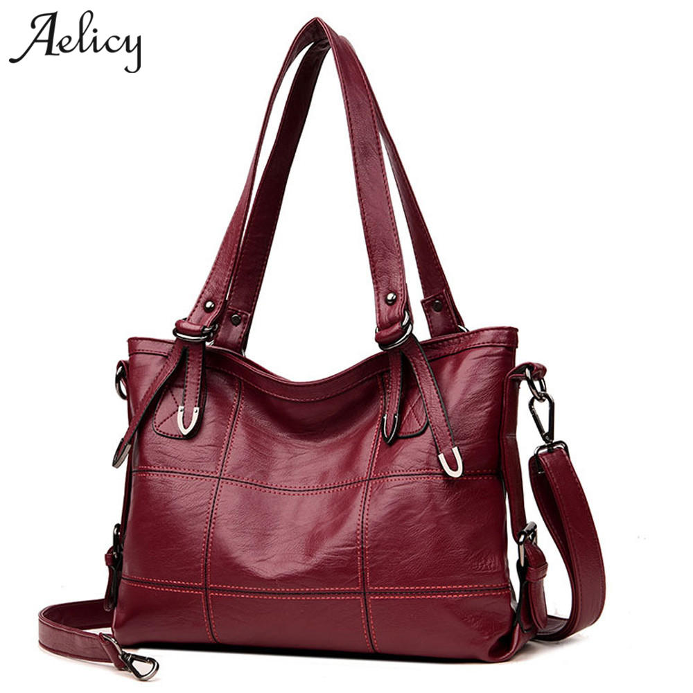 Aelicy Women Handbag Fashion Tote Bag Top-handle Bags Ladies Handbags Women Fashion Bags 2018 Casual Big Shoulder Bag Leather 2018 genuine leather women bag fashion women handbag large shoulder bags elegant ladies tote satchel purse top handle bags