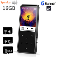 2018 New Arrival Bluetooth MP4 Music Player with Speaker 16G with 2.4 Inch Screen High Quality Lossless Player with FM, Recorder