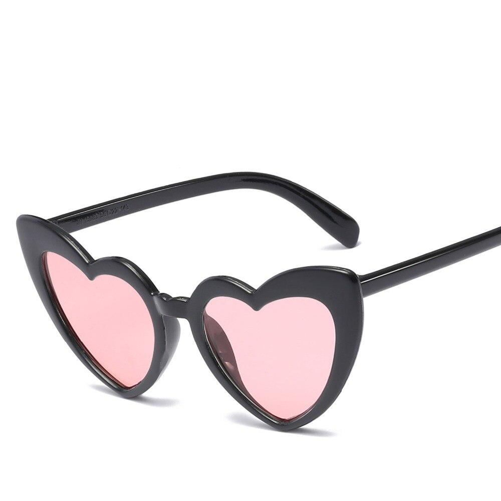 7d6a339b58 2018 love Heart Shaped Sunglasses women cat eye vintage Christmas gift black  pink red heart shape sun glasses for women uv400-in Sunglasses from Women s  ...