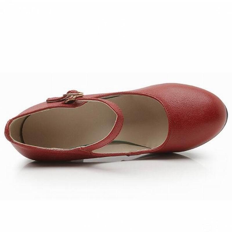 Noir En Rouge De kaki Classique Et Pompes rouge Haute Épais Talons Femmes Pour Timetang Chaussures Noir Qualité Bureau Véritable Nouvelles 2018 Cuir Dames fZn4xqIxRw