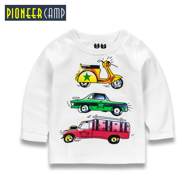 Пионерский лагерь дети От 2 до 10 лет Демисезонный 2017 футболка с длинными рукавами для девочек в полоску Футболки для мальчиков рубашка для мальчиков топы; детская одежда
