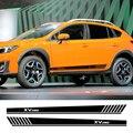 Длинные Боковые Полосатые наклейки для автомобиля  виниловая пленка  гоночный спортивный стиль  наклейки для автомобилей  для Subaru XV  тюнинг ...