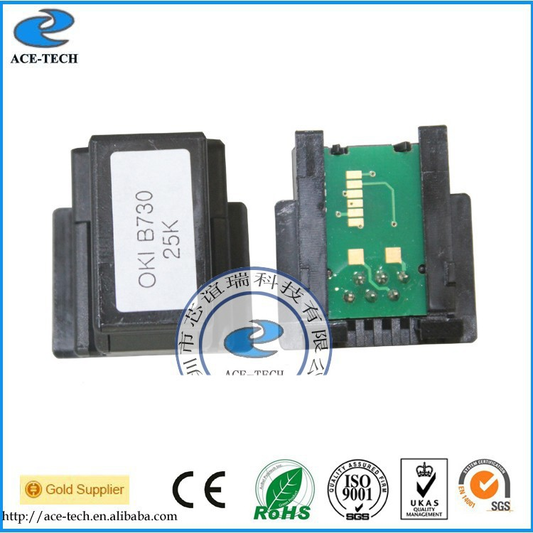 Compatible 20K toner chip for OKI B720 b730 EU version laser printer cartridge 1279101 52123602 1279101 toner cartridge chip for oki data b720 b720d b720n b730n b730dn b730 laser printer powder refill reset 20k