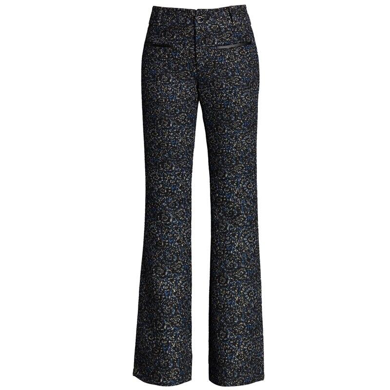 Larges Laine 1 D'hiver Micro Occasionnels color Flare Color Pantalons Pantalon Et Automne De Femmes À Jambes 2 QxodrCBeWE