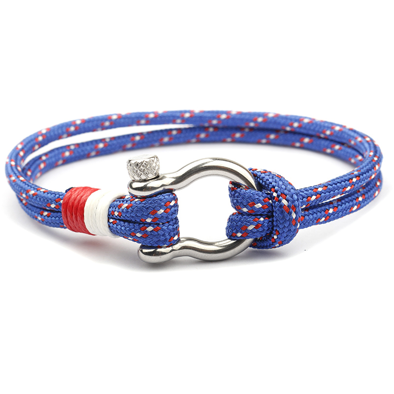 NIUYITID 2018 New Stainless Steel Buckle Men Bracelet Fashion Paracord Rope Navy Style Male Charm Braclet Jewelry High Quality (4)