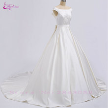 Waulizane Lustrous A-Line Wedding Dresses Floor-Length