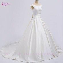 Waulizane Lustrous A-Line Wedding Dresses Floor-Length