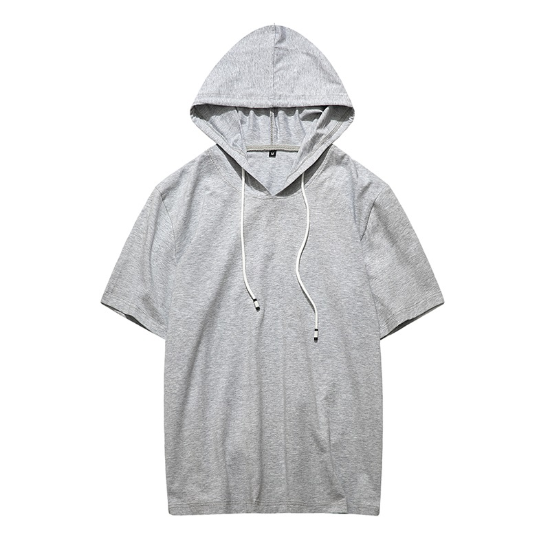2018 Summer men tshirt hooded Casual Collar Tops Tees Short Sleeve T-Shirt...