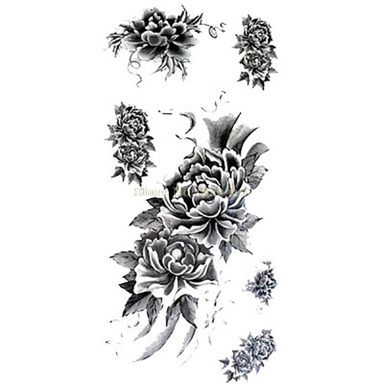 Small Black and White Tattoos Waterproof Stickers Temporary Small ...