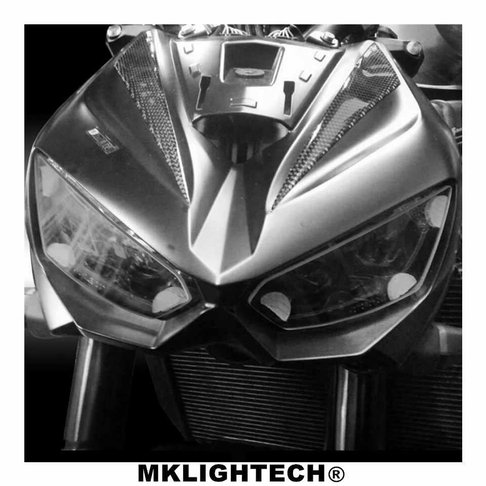 MKLIGHTECH For KAWASAKI <font><b>Z1000</b></font> 2014 -2016 Z1000R <font><b>2019</b></font> Motorcycle Acrylic Headlight Screen Protecter Headlight Lens Cover image