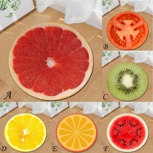 High Popularity Simulated fruit Series Printing Round Polyester Bathroom Kitchen Anti-slip mats Childrens room Carpet