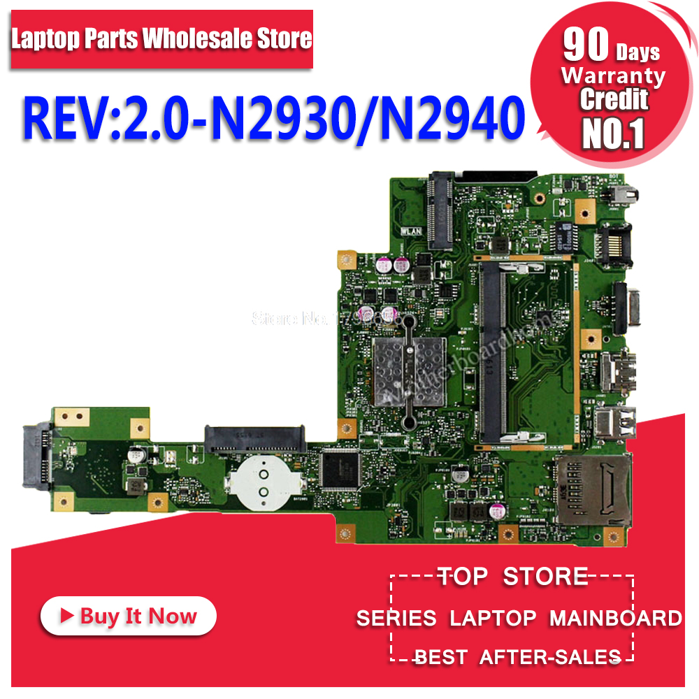 цена на X553MA Motherboard REV:2.0 N2930/N2940 For ASUS A553M F553M K553M X503M laptop Motherboard X553MA Mainboard X553MA Motherboard