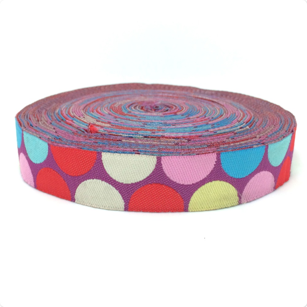NEW wholesale 5/8 (16 mmx10yards) 100% Polyester Woven Jacquard Ribbon The colours of the rainbow