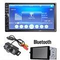 7018B 45 W x 4 de 7 Pulgadas LCD HD Coche En El Tablero de Doble DIN Pantalla táctil Bluetooth Estéreo Del Coche Reproductor de Radio FM MP3 MP5 + 1/4 CMOS cámara