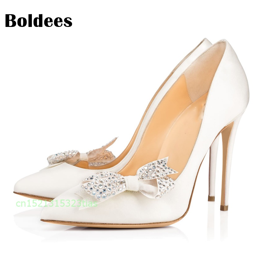 Women Pumps Sexy Rivet Shoes Rome Butterfly knot High Heels Fashion Party Pointed Toe Thin Heels Stiletto Pumps women s sexy stiletto heels w rivet party shoes khaki golden 36
