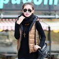 New arrival thickening women's vest women vests with a hood woman waistcoat outerwear free shipping