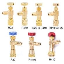 """R410a R22 Холодильный инструмент кондиционер предохранительный клапан Адаптер 1/"""" 5/16"""" дюймовый мужской/женский шланг с резьбой для зарядки клапаны"""