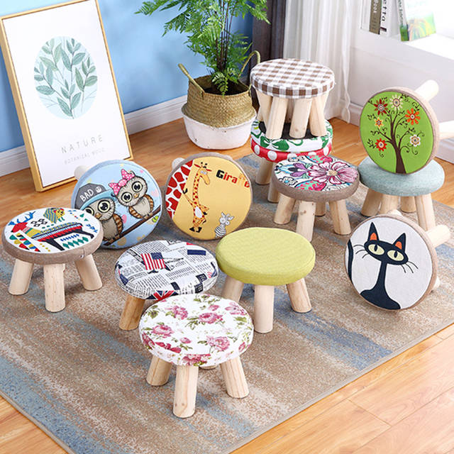Astonishing Us 25 0 Modern Round Pouffe Foot Stool Small Wooden Step Stool Chair Nordic Home Living Room Furniture In Stools Ottomans From Furniture On Frankydiablos Diy Chair Ideas Frankydiabloscom