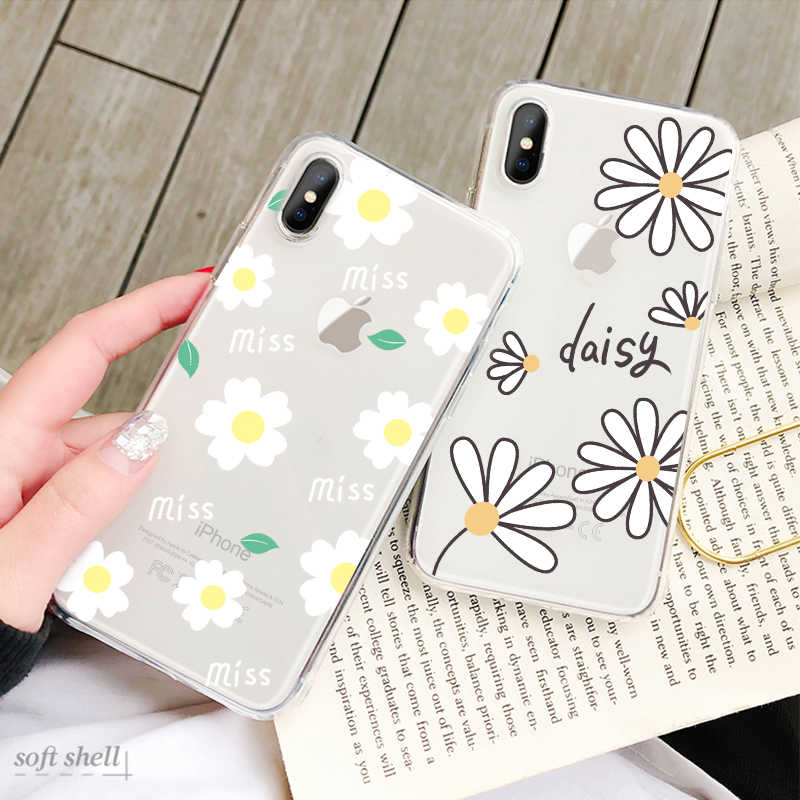 Summer Flower Case For iPhone X XS 6 6s 7 7Plus 8 8Plus XR XS Max 5 5s SE Soft TPU Silicon Cases Color Pattern Back Cover