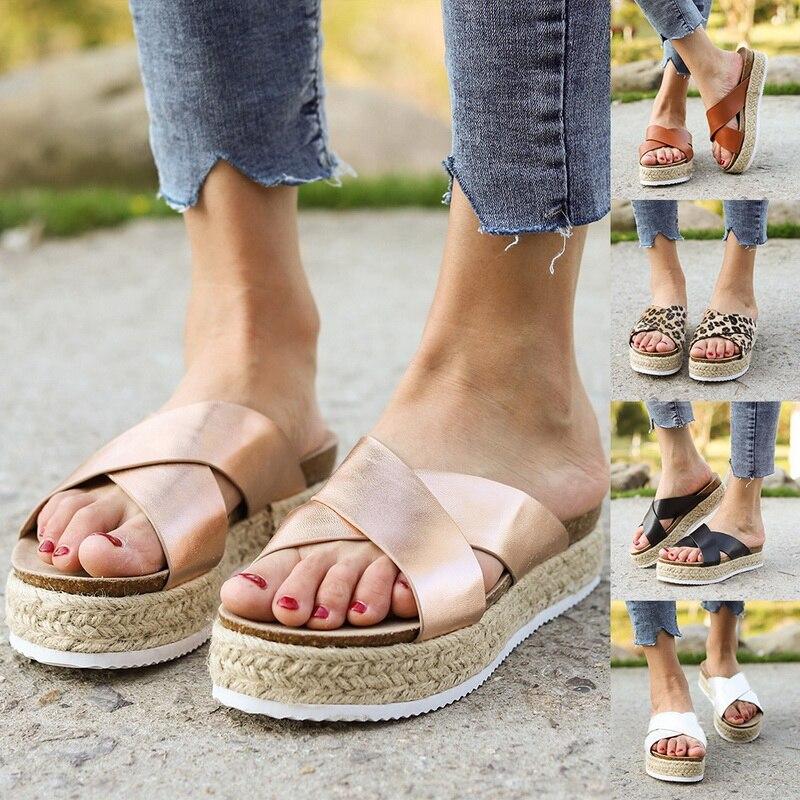 Summer Women Slippers Slides Platform Thick Bottom Flip Flops Flat Sandals Beach ShoesSummer Women Slippers Slides Platform Thick Bottom Flip Flops Flat Sandals Beach Shoes