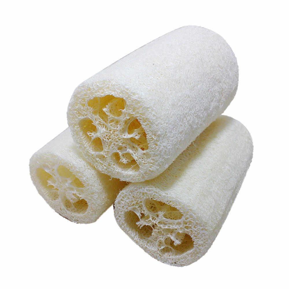Naturalne zdrowe Loofah wanna prysznic mycia ciała Pot miska płuczka z myjką Spa akcesoria łazienkowe wanna gąbka do mycia ciała # T2