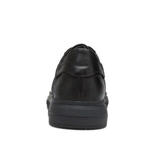 Image 4 - סניקרס גברים נעליים יומיומיות אמיתי עור מבטא אירי נעלי mens מעצב מוצק קלאסי אופנה זכר תחרה עד דירות שחור 36 46