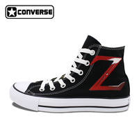 Men Converse All Star Anime Shoes The Legend Of Zelda Hand Painted High Top Black Canvas