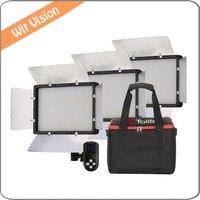 PT 680S 3 Light Stands Kit Daylight 3200K 5600K LED Portable Light For Outdoor Movie Video
