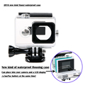 2016 novo Xiaomi Yi câmera de caixa à prova de água de ampliado, Xiao Mi Yi acessórios Bacpac ou LCD dedicado