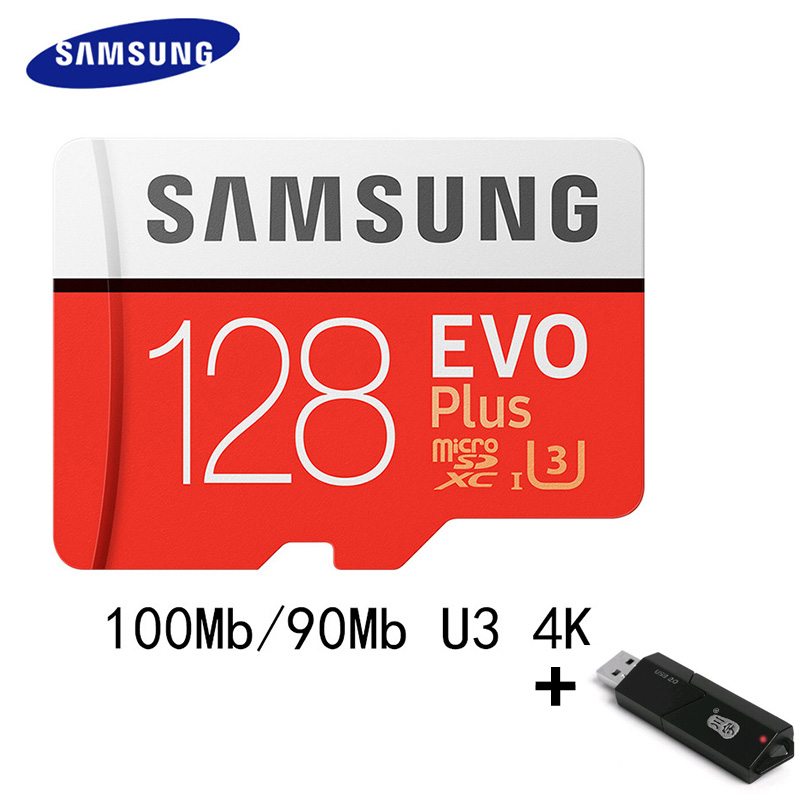 SAMSUNG Micro SD Card Memory Card 32GB 128G 64G 100Mb/s Class10 U3 4K / U1 Flash TF Card for Phone SDHC SDXC for Pc High Speed ssk scrm 060 multi in one usb 2 0 card reader for sd ms micro sd tf white