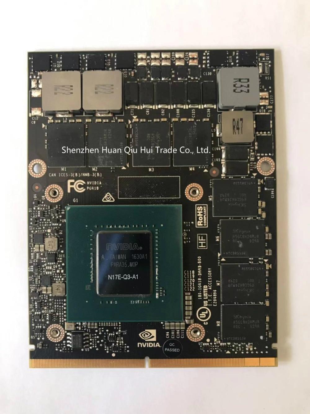 Origianl For DELL NVIDIA Quadro P4000 MXM GPU Card N17E-Q3 For M7710 M7720 Zbook17 G3 G4 Video Graphics Card
