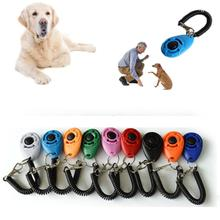 1pc Pet Trainer Pet Dog Training Dog Clicker Adjustable Sound Key Chain And Wrist Strap Doggy Train Click pet training dog clicker adjustable sound key chain and wrist strap doggy train