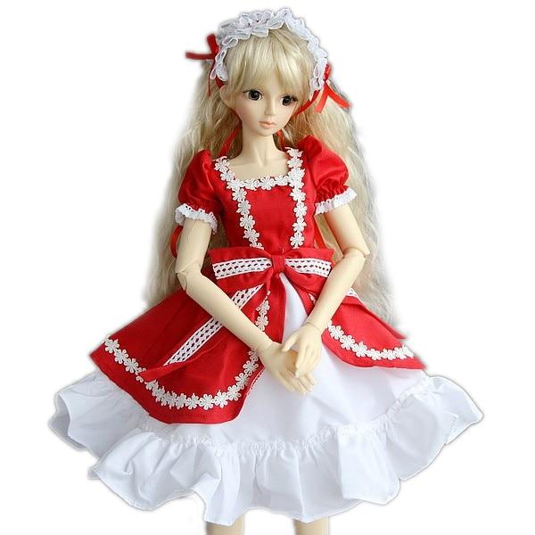 [wamami] 124# Red Dress/Clothes 1/6 SD DOD DZ BJD Dollfie [wamami] 1 6 sd stand aod dod dz bjd dollfie