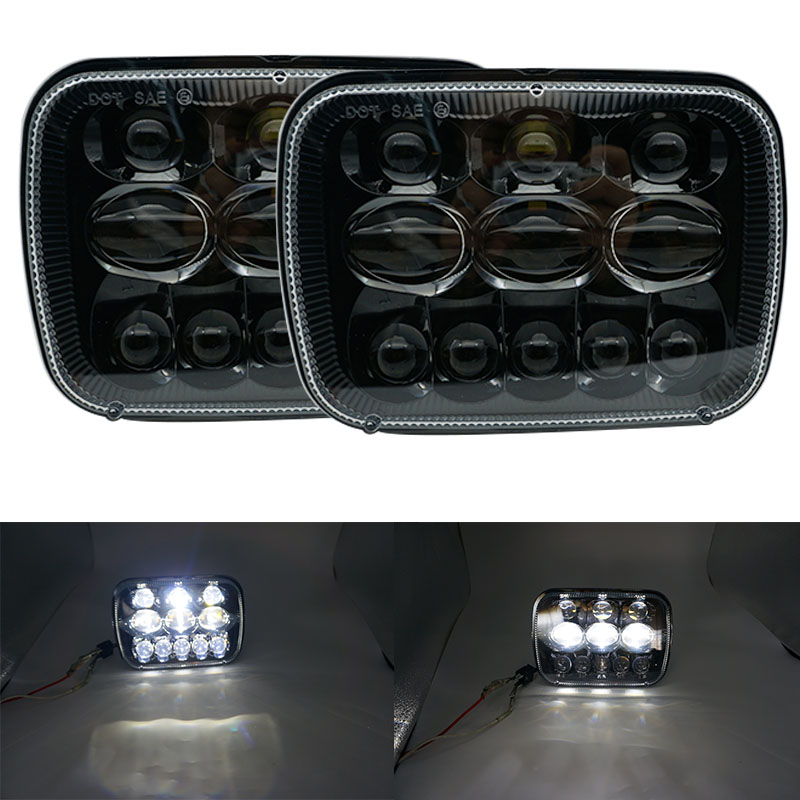 7X6 inch led headlights 5x7 headlamps for Jeep Cherokee XJ Wrangler YJ Comanche MJ Toyota Tacoma Pickup MR2 Supra Nissan 240SX 31x12x3 inch universal turbo fmic intercooler 3 inch piping kit toyota supra mkiii mk3 7mgte