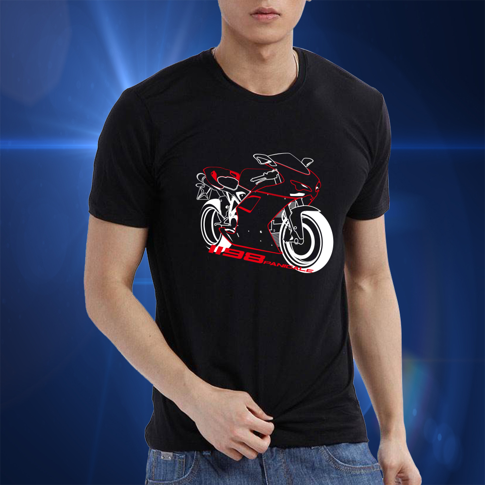 KODASKIN Motorcycle Style 100% Cotton for Ducati 1198 Panigale Casual Short Sleeve O-Neck T Shirt