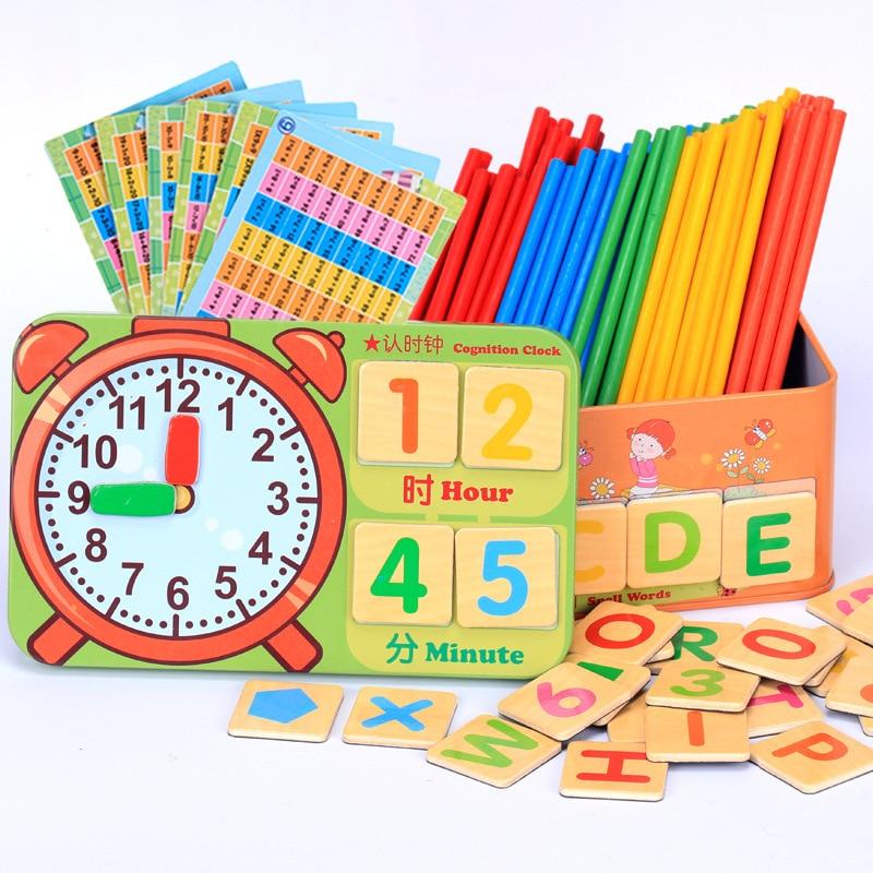 100 pièces coloré bambou comptage bâtons mathématiques Montessori enseignement aides comptage tige enfants préscolaire maths apprentissage jouet GYH
