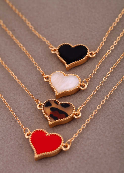 Charming Red Heart Bracelets & Bangles For Women Girls Gold Color Metal Bracelets Hot Sale Statement Jewelry Wholesale