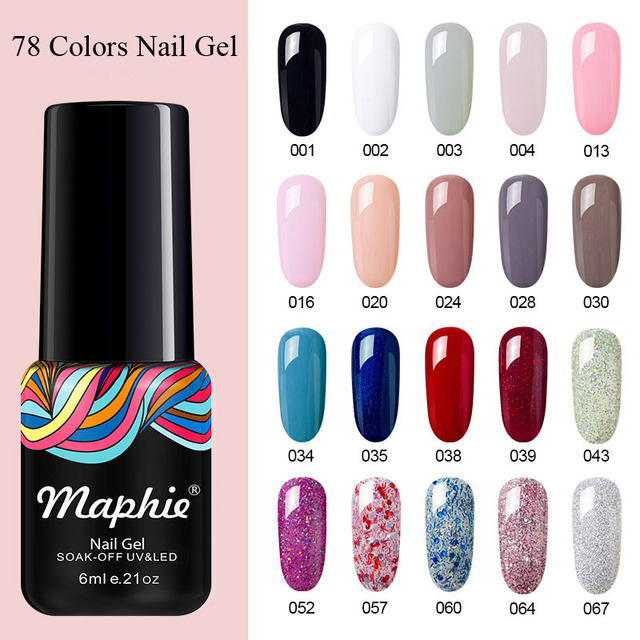 Maphie Soak Off Uv Nail Gel Polish Free Shipping Led Varnish Art Silver
