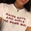 Mulheres levantar meninos e meninas no mesmo WAY cor camiseta 100% algodão O pescoço t-shirt camisas feitas sob encomenda engraçado - camisa frete grátis