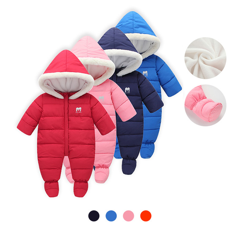 Russia Winter Baby Rompers New Born Baby Pakas Thick Down Baby Ropa Warm Outerwear For Baby Girls Boys Cute Clothes Little Kids russia winter baby rompers new born baby pakas thick down baby ropa warm outerwear for baby girls boys cute clothes little kids
