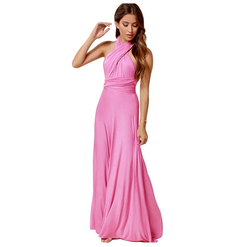 Mujeres robe Maxi Vestidos longitud del piso damas vestido largo un ...