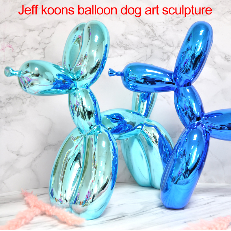 Jeff Koons Large Balloon Dog Sculpture Works Of Art  Contemporary Contracted Household Desktop Decor Animals Figurines Gifts