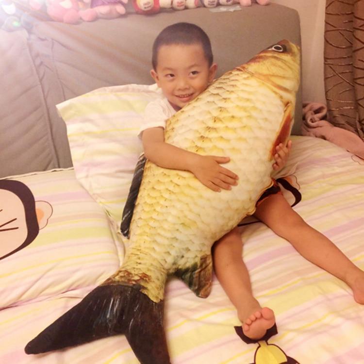 40cm/60cm/100cm simulation fish plush toys creative fake fish pillow, large fish stuffed spoof toys sleeping pillow cushion