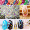 11 Colors 100g Bag Irregular Manicure 3D Acrylic Cameo Crushed Sea Shining Shell Glitter Powder Nail