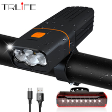 5200mAh Bicycle Light 3*T6/L2 Bike Built in USB Charge Powerfull Cycling Waterproof Accessory as Power Bank
