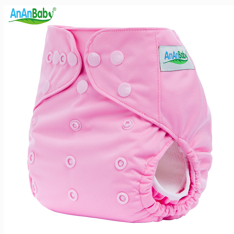 Ananbaby Baby Nappy Couche Lavable Waterproof Breathable PUL + Knitting Washable One Size Adjustable Cloth Diaper Cover HA017