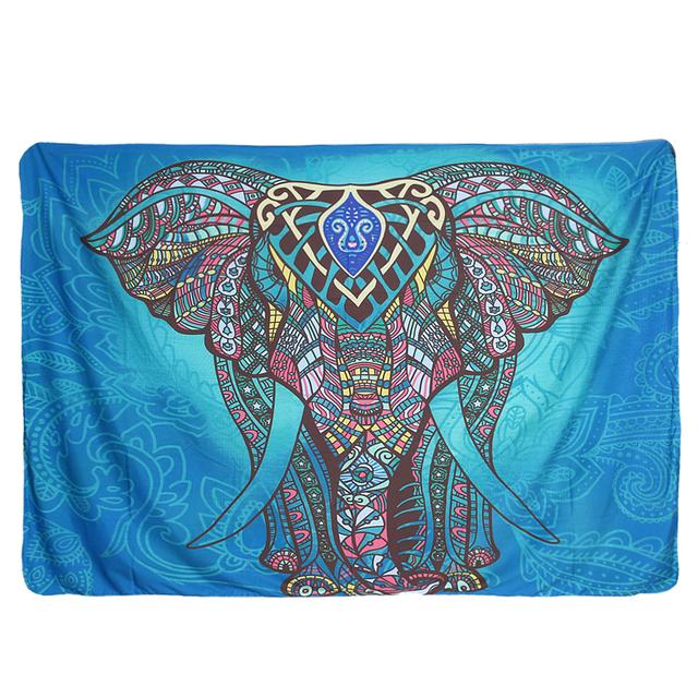 Indian Mandala Tapestry Printed Elephant